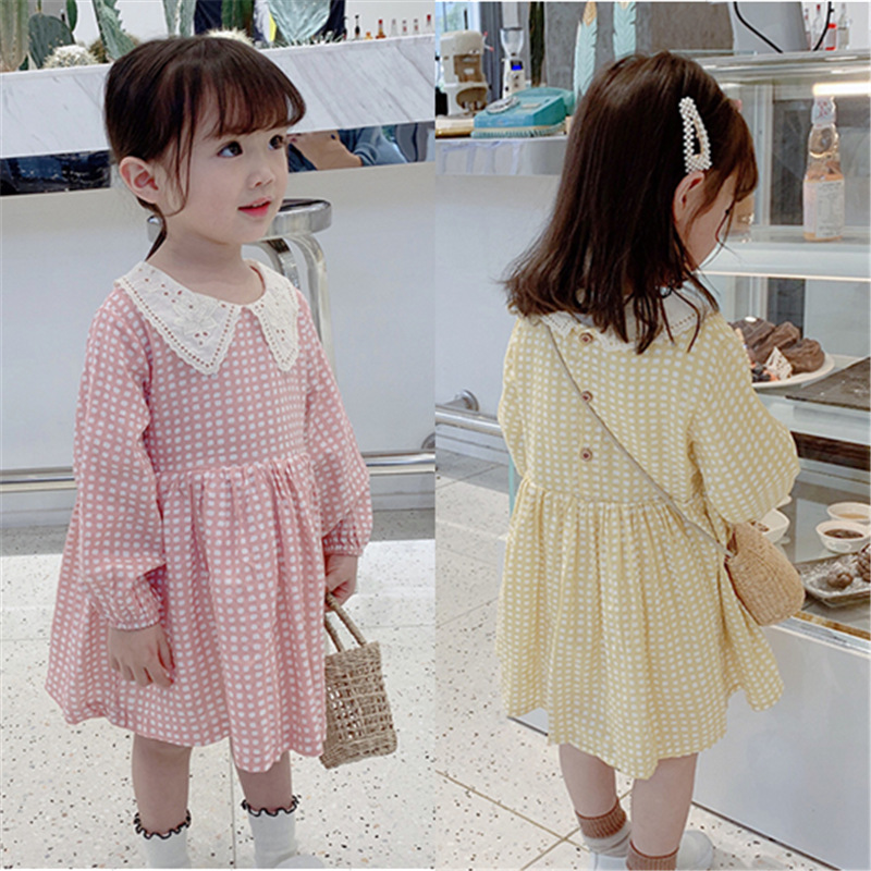 <font><b>Girl</b></font> <font><b>Dress</b></font> 2 3 4 5 <font><b>6</b></font> <font><b>7</b></font> <font><b>Years</b></font> Baby Clothes Kids <font><b>Dresses</b></font> for <font><b>Girls</b></font> Fashion New Autumn Baby <font><b>Girl</b></font> Plaid <font><b>Dress</b></font> <font><b>Birthday</b></font> Party <font><b>Dresses</b></font> image