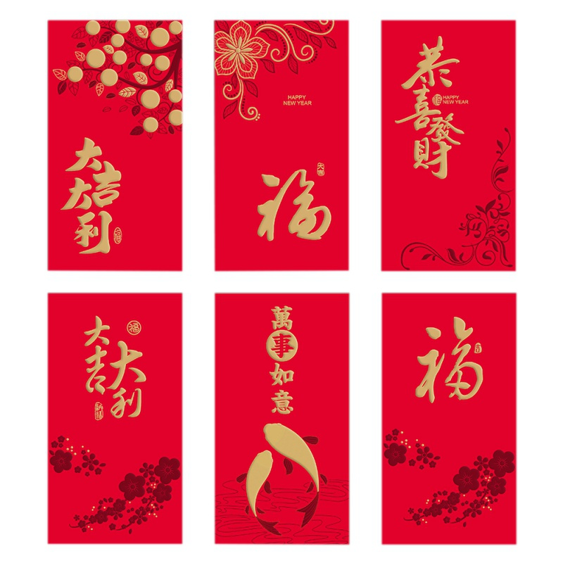 Lucky Chinese Red Envelopes, 2020 Rat Year Lucky Pockets Red Packet Packaging For Chinese New Year And Party Gift BoxNM