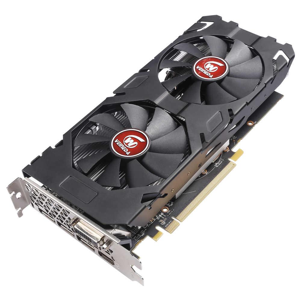Tarjeta gráfica 100% Original razon RX 470 256bit 8GB GDRR5 DP HDMI DVI listo para tarjeta de vídeo AMD no Compatible con minería rx 570 8gb