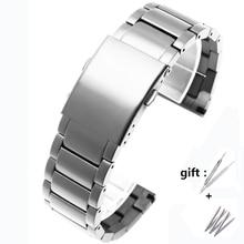 Fit dizel DZ4316 DZ7395 DZ7305 DZ7330 4358 izle 24mm 26mm 28mm 30mm yüksek kaliteli hizmet paslanmaz çelik kayış erkekler için watchband