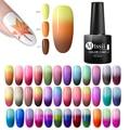Mtssii ультра-тонкий термальный Блестящий УФ-гель, 22 цвета, отмачиваемый, изменяющий температуру гель для дизайна ногтей, гель для маникюра
