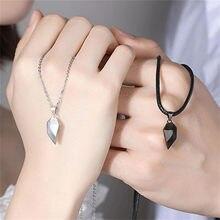 2pc casal colar costura criativa colar amor fragmentos colares dia dos namorados presente casal jóias dropshipping a2