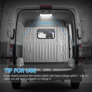 Image 3 - 12V 72 LED 차량 인테리어 스트립 조명 ON/OFF 스위치 바 자동차 밴 캐러밴 보트 트럭 트레일러 램프 야외 캠핑 홈