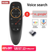 Mecool G10 Air Mouse Voice Afstandsbediening met 2.4G Usb-ontvanger Gyro Sensing Mini Wireless Smart Remote voor Android TV BOX PC(China)