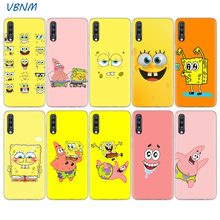 Cute Cartoon Spongebob Heart Case For Samsung Galaxy A70 A50 A20E S10E S10 Plus A40 A30 A20 A10 A60 A80 M40 M30 M20 M10 Cover