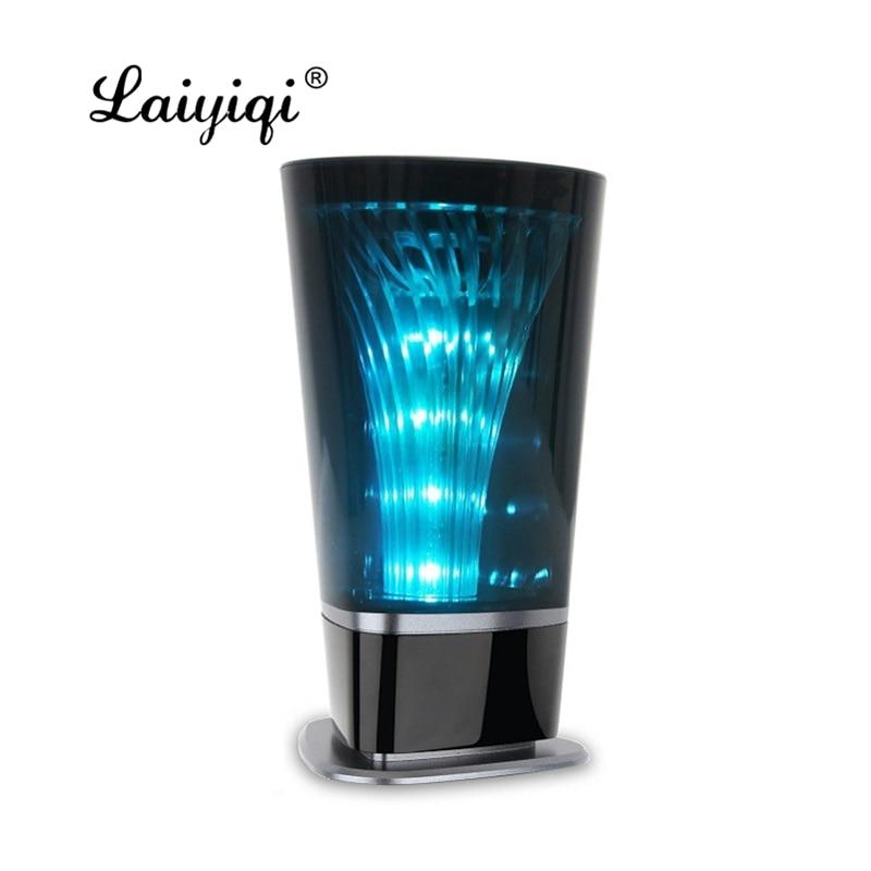 Laiyiqi светодиодный импульсный стакан цветные bluetooth колонки свет ночник Портативный громкой связи низкочастотный радио динамик Altavoz caixa som portatil