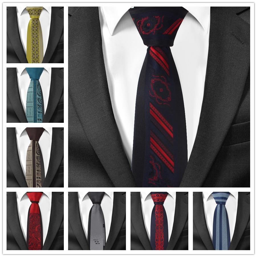 New Design Men Skinny Ties Unique Panel Woven Necktie For Man