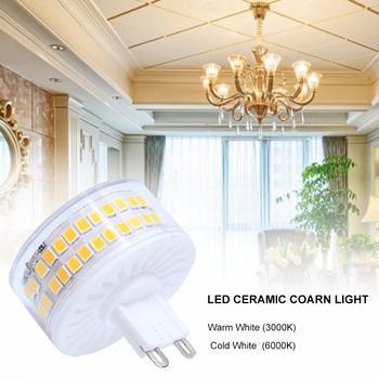 10W G9 bombilla LED tipo mazorca bombilla de alta brillo ahorro de energía cerámica lámpara para ventana cabinas jardín paisaje de 220V-240V