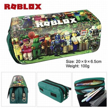 High Quality Cartoon bag children back to school supplies Cosmetic boys girls stationary kids Roblox pencil case bags gravity falls reel scroll style pencil stationary storage wallet bag boys girls gift