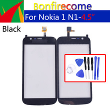 цена на For Nokia 1 N1 Touch Screen Panel Digitizer Sensor Front Glass Outer Touchscreen Replacement 4.5 inch