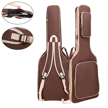 101 x 33 6cm Oxford Fabric Electric Guitar Gig Bag Double Straps Pad 8mm Cotton Thickening Soft Cover Waterproof Backpack