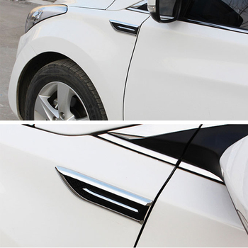 ABS Chrome trim cover Light Side Emblem Badge decoration trim Sticker for Mazda Mitsubishi ASX Outlander Subaru image