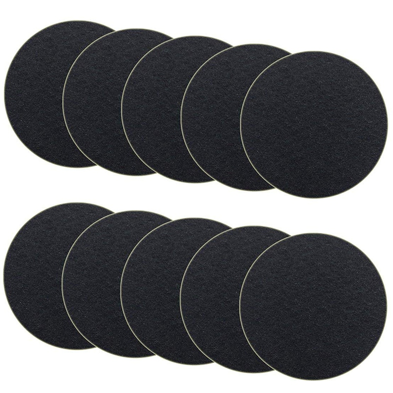 SANQ 10-Pack Charcoal Filter for Kitchen Compost Bin Filters Replacement Compost Pail Bucket Refill 7.25 Inch, Round