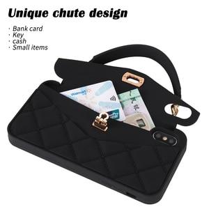 Image 3 - Droshipping vip bolsa de ombro bolsa carteira silicone macio caso do telefone para o iphone 12 mini 11 pro max 6s 7 8 plus xs max xr x 10
