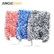 JUNGLEFLASH لينة قفاز ميت عالية الكثافة السيارات غسل القماش الترا سوبر امتصاص سيارة الإسفنج أفخم قفاز منشفة مصنوعة من الميكروفيبر