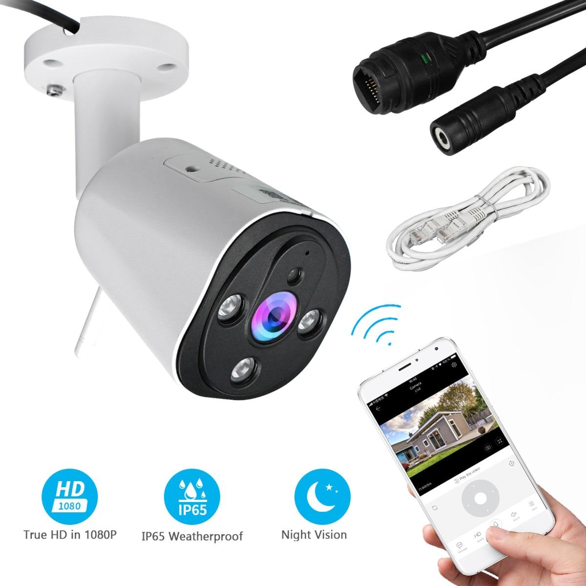 Güvenlik ve Koruma'ten Gözetim Kameraları'de Kablosuz wifi ip kamera Açık Ev Güvenlik IR Gece Görüş Akıllı Otomatik Izleme bebek izleme monitörü HD1080P Gözetim title=