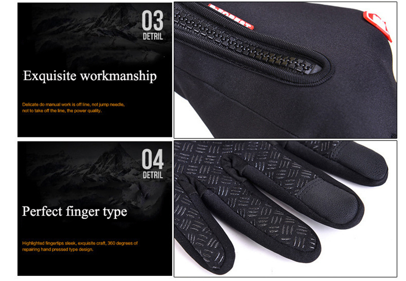 Unisex Touchscreen Winter Thermal Warm Cycling Bicycle Bike Ski Outdoor Camping Hiking Motorcycle Gloves Sports Full Finger (6)