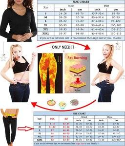 Image 5 - NINGMI Neoprene Body Shaper Sport Set Long Sleeve Shirt + Legging Sauna Suits Women Control Panties Pant Waist Trainer Shapewear