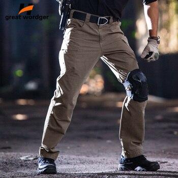 Men City Tactical Cargo Pants Men Waterproof Combat Army Military Pants Multi Pockets Stretch Flexible Hunt Hiking Trousers Men