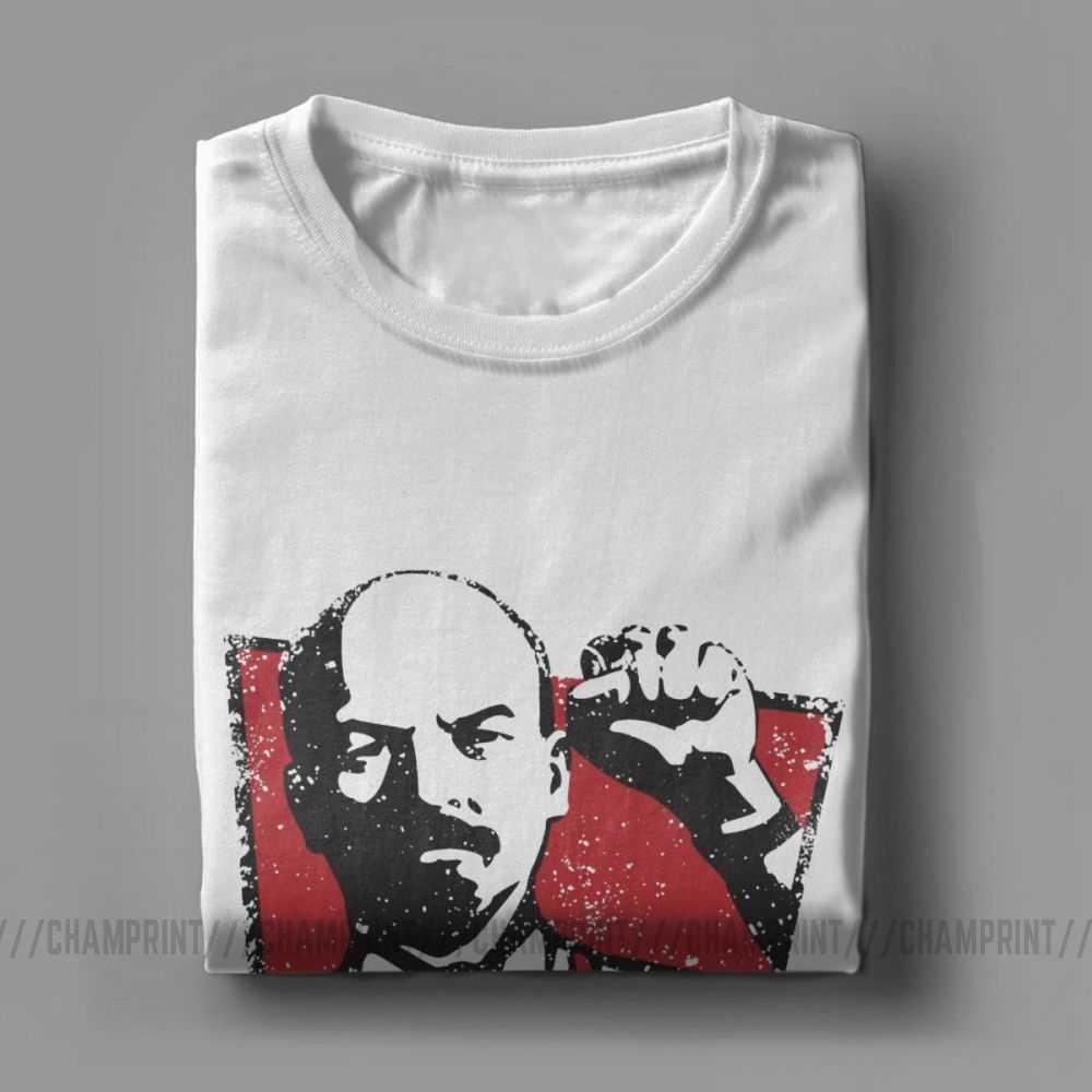 KGB ウラジミールレーニン男性 Tシャツソ連ロシア共産マルクス主義社会主義ヴィンテージ Tシャツクルーネック Tシャツ綿 100% のギフト服