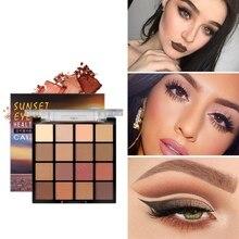 цена на 16-Color Sunset Series Eye Shadow Palette Rose Tenderness Glitter Eye Shadow Powder Palette Pigment Cosmetics