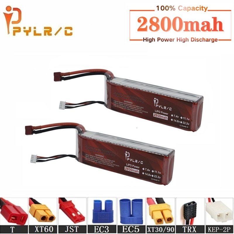 High Rate 14.8v <font><b>2800mAh</b></font> <font><b>Lipo</b></font> Battery For RC Helicopter Parts <font><b>4s</b></font> Lithium battery 14.8v 50C RC Cars Airplanes Drone Battery T/XT60 image
