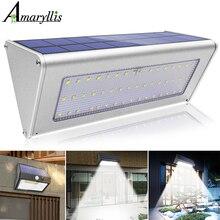 Luzes solares ao ar livre sensor de movimento 3/4 modos opcionais 38/48 led luz de parede segurança à prova dwireless água sem fio para a porta da frente quintal