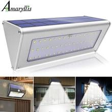 Уличный светильник s, с датчиком движения, на солнечной батарее, 3/4 дополнительных режима, 38/48 светодиодный, беспроводной, водонепроницаемый, настенный светильник безопасности для входной двери
