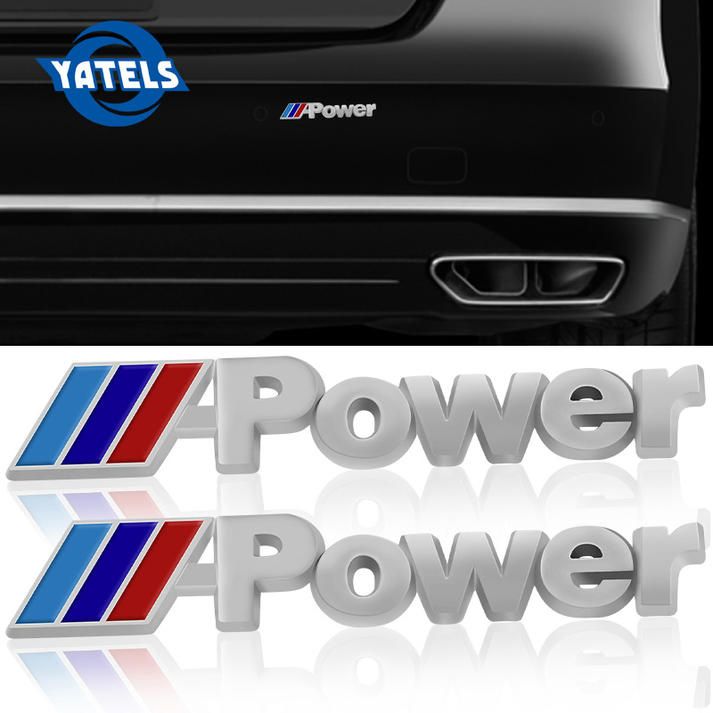 2x Car-Styling NEW M power Series Logo Car Sticker Emblem Badge Chrom 1 3 4 5 6 7 <font><b>E</b></font> Z X M3 M5 M6 Mline for <font><b>BMW</b></font> M Car Styling image
