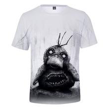 Terror Style Pokemon T-shirt Dark Pikachu Psyduck T Shirt Anime Cartoon Tshirt 2019 3d Print Men Tops Male Streetwear Clothes