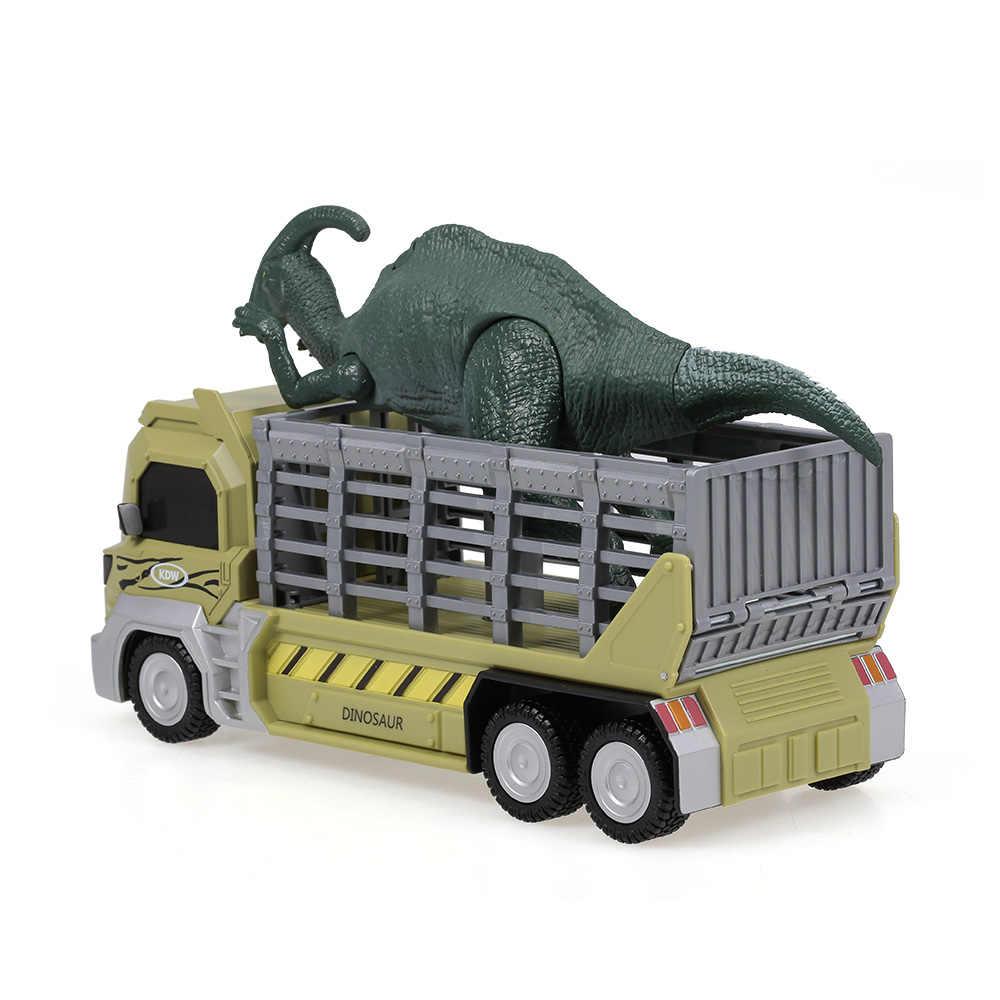 Xe ô tô Đồ Chơi Khủng Long Vận Tải Ô Tô Tàu Sân Bay Đồ Chơi Xe Parasaurolophus Kéo Lưng Xe Đồ Chơi Khủng Long Món Quà cho Trẻ Em