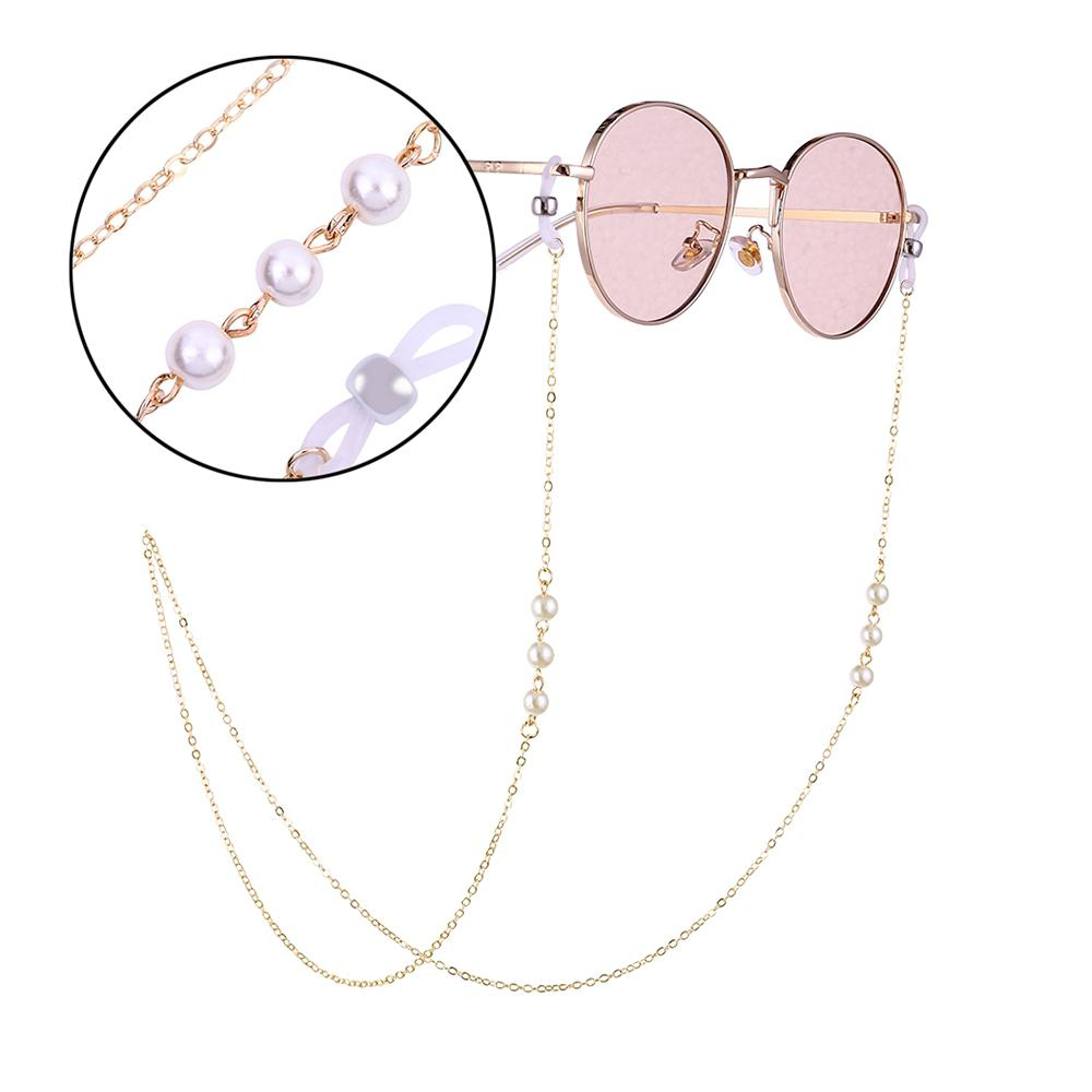 Fashion Eyeglasses Sunglasses Pearl Beading Sweet Chain Holder Lanyard Necklace Sunglasses Necklace Eyeglass Lanyard Elegant