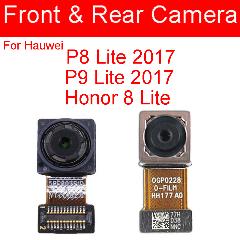 Front Rear Camera For Huawei P9 Lite 2017 Honor 8 Lite Small Facing&Big Main Camera Flex Cable For Huawei P8 Lite 2017