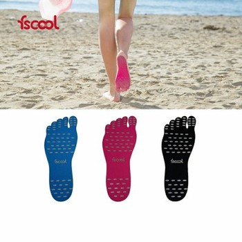 1 pair Beach invisible non-slip insoles insulated feet attached to nak fit soles beach insoles image