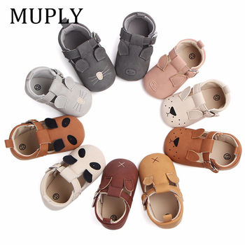 New 10 Colors Cute Animal Print First Walkers Soft sole Pu Leather Crib Girls Boys Sneakers Strap Baby Shoes For Drop Shipping - discount item  19% OFF Baby Shoes