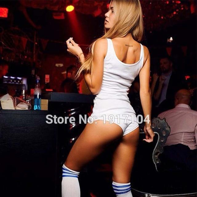 TASTIEN Frauen Sexy Denim Shorts Jeans Sommer Tanga Stretch Mini Super Shorts Pole Dance Verband Club Hotpants Plus Größe Shorts