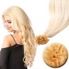 Mw u prego ponta máquina remy queratina extensões do cabelo humano em linha reta pré ligado fusão cápsulas de cabelo 12