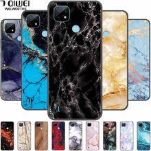 Para realme c21 caso de impressão mármore macio silicone telefone capa para oppo realme c21 caso 6.5 ttpu pára realmec21 c 21 2021 para
