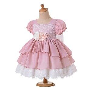 Image 3 - Pettigirl, venta al por mayor, Boutique de verano, fiesta de cumpleaños, vestido de flores para niña bebé con diadema, G DMGD203 D63