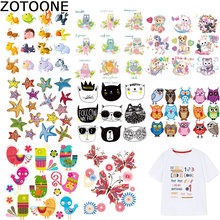 ZOTOONE Big Size Animal Patch Owl Cat Iron on Patches for Clothing Iron-on Transfers A-level Washable Sticker A