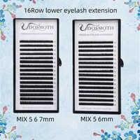 lower lashes mix 5 6 7 Length eyelash extension Beauty eyelash soft Mink eyelash