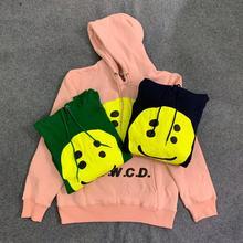 19FW CPFM.XYZ Hoodies Kanye West Smiling Face Men Women Flame Spirit Sweatshirt Service Xxxtentacion Long Coat