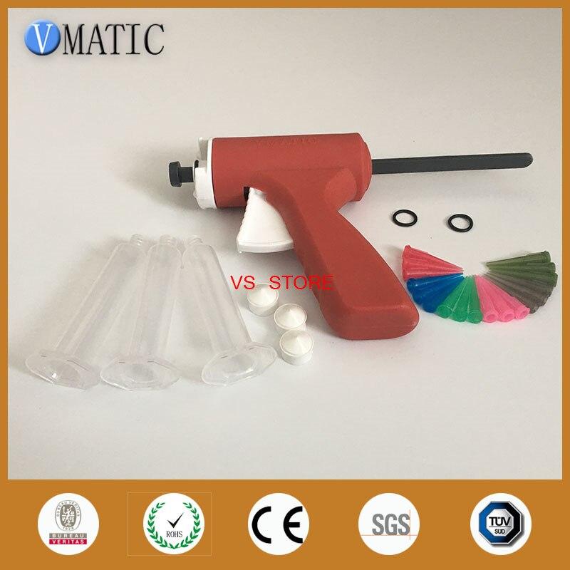 Free Shipping 10 Ml 10 Cc Plastic Manual Glue Caulking Gun With Syringe & Needles