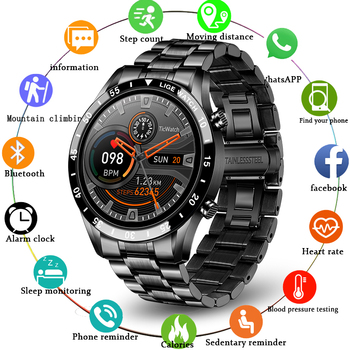 new bluetooth smart watch ex28 ip67 waterproof support call sms alert pedometer sports activities tracker wristwatch for android LIGE New Luxury Steel Band Bluetooth Call Smart Watch Men For Android iOS Phone Waterproof Sports Fitness Tracker Smartwatch