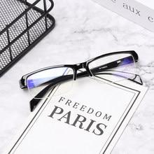 Meia armação miopia óculos feminino masculino resina óculos de leitura míopes óculos 0 -1 -1.5 -2 -2.5 -3 -3.5 -4