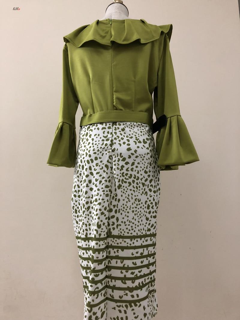 elegante temperamento vestido lotus leaf collar magro