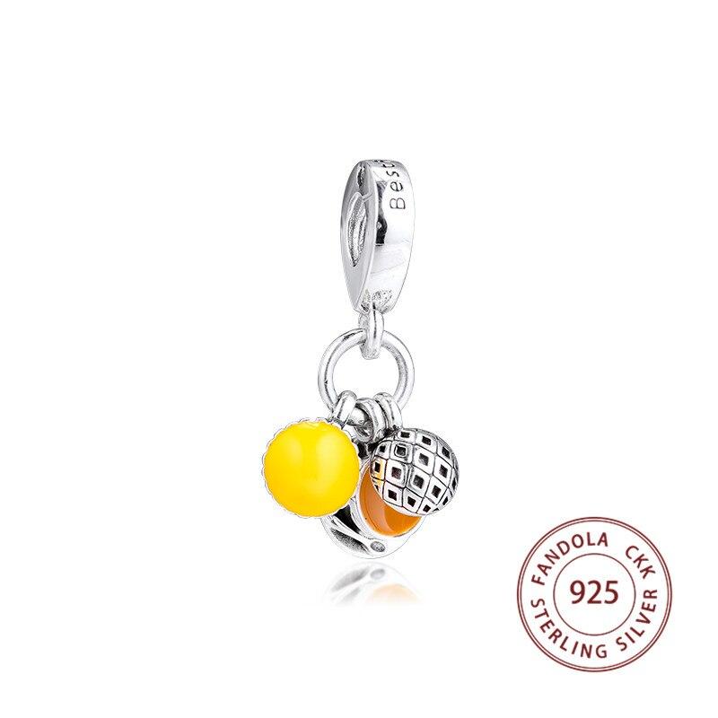 925 Sterling Silver HighTea Charm Pendant Fit 925 Bracelet Chain For European