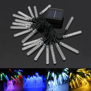 Solar String Light 30 Led Waterproof Bubbles Stick String Fairy Light Outdoor Garden Christmas Party Decoration Solar Lights(China)