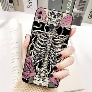 Image 3 - YNDFCNB Gothic Fashion Skull Phone Case for Huawei Honor 8x C 9 10 i lite play view 10 20 30 5A Nova 3 I