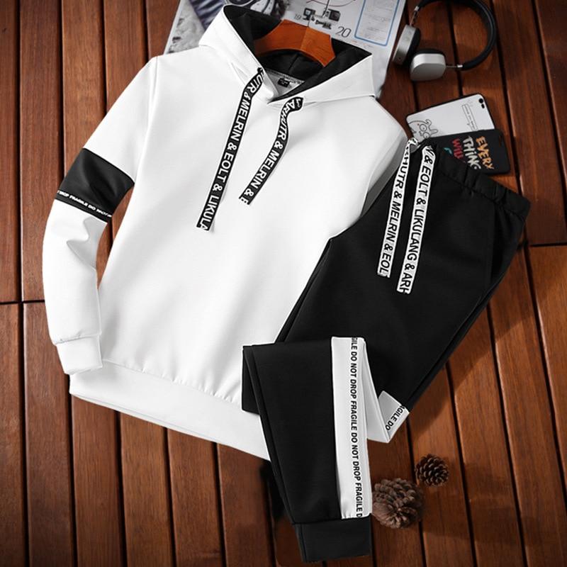 6865 New Style Autumn Men's Sports Suit Casual Plus-sized Menswear Men's Wear Korean-style Hoodie Running Sports